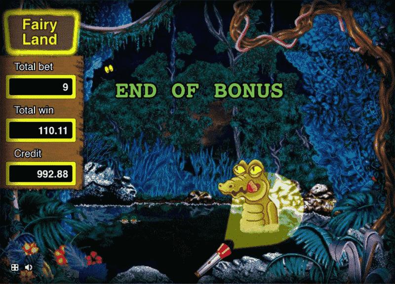 second bonus round Fairy Land